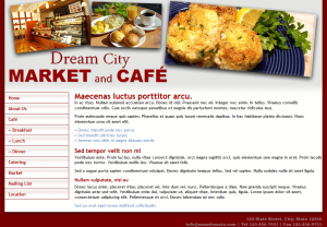 Market and Café Template